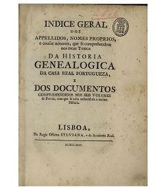Indice Geral_ Historia Genealógica da Casa Real Portuguesa 2